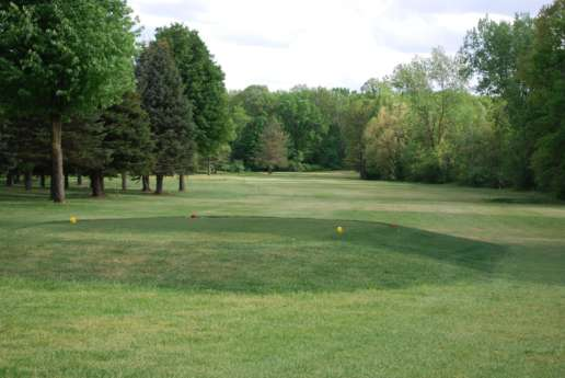 View of the greens at Clark Lake Golf Course