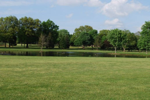 Beautiful shot of the course near water