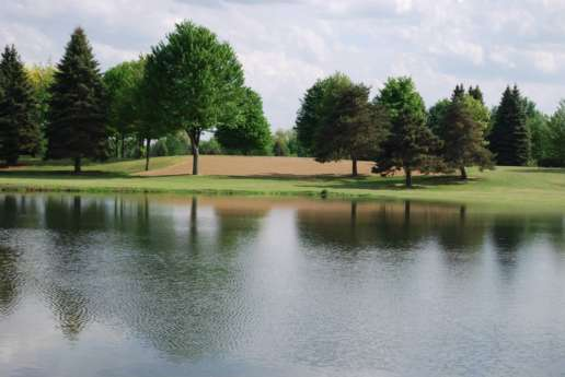 Beautiful Shot of Lake on the Golf Course